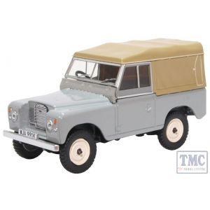 43LR3S003 Oxford Diecast O Gauge Land Rover Series III SWB Canvas Mid Grey