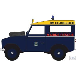 43LR3S007 Oxford Diecast O Gauge 1:43 Scale Land Rover Series 3 SWB Station Wagon HM Coastguard