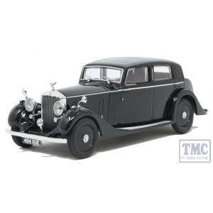 43R25003 Oxford Diecast 1:43 Scale Rolls Royce 25/30 - Thrupp & Maberley Black