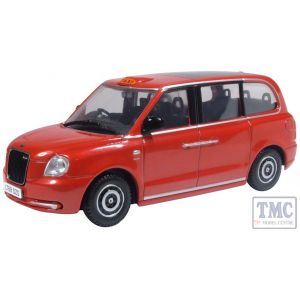 43TX5002 Oxford Diecast 1:43 Scale Tupelo Red Levc Tx Taxi