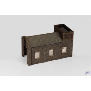 44-0002 Scenecraft OO Gauge Stone Engine Shed with Tank