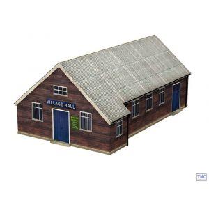 44-0006 Scenecraft OO Gauge Wooden Village Hall