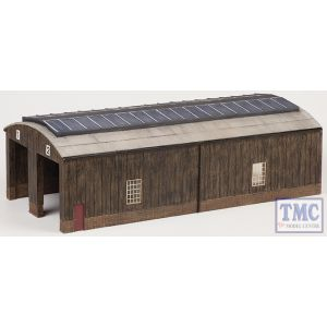 44-0035 Scenecraft OO Gauge Wooden Carriage Shed
