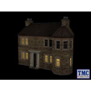 44-0084 OO Gauge Scenecraft Hampton Lodge with Lights