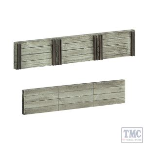 44-0509 Scenecraft OO Scale Wood Sleeper Retaining Walls
