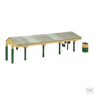 44-089G Scenecraft OO Gauge Bluebell Station Canopy Green and Cream