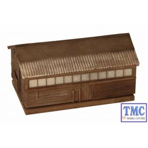 44-163 Scenecraft OO Gauge Pendon Grotty Large Shed
