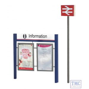 44-548 Scenecraft OO Gauge Station Signage Set