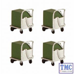 44-567 Scenecraft OO Gauge Coolant Trolleys (x4)