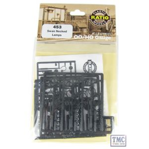 453 Ratio Swan Necked lamps (9 per pack) OO Gauge Plastic Kit