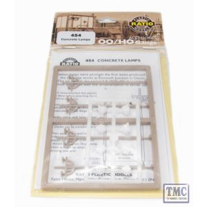 454 Ratio Concrete Lamps (4 double standard per pack) OO Gauge Plastic Kit