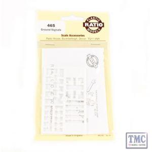 465 Ratio Ground Signals (4 per pack) OO Gauge Plastic Kit