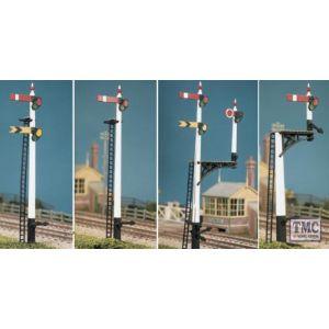 466 Ratio GWR Square Post (4 Signals inc. Jcn/brackets) OO Gauge Plastic Kit