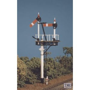 468 Ratio GWR Round Post (1 set Brackets/jcn.Signals) OO Gauge Plastic Kit