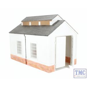 47-009 Scenecraft O Gauge Single Road Engine Shed 257mm x 155mm x 189mm