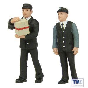 47-412 Scenecraft O Gauge station staff 70's set B (pack of 2 figures)