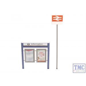 47-548 Scenecraft O Gauge Station Signage Set