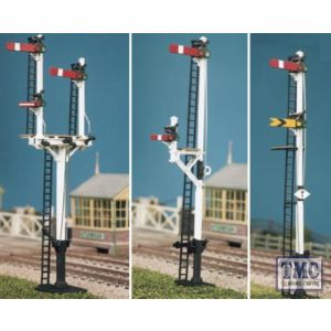 476 Ratio LMS Round post (4 signals inc. Jcn/brackets) OO Gauge Plastic Kit