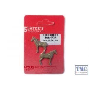 4A24 Slaters OO Gauge Unpainted Cart Horse (5)