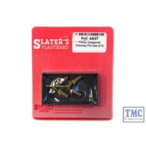 4A37 Slaters OO Gauge Fancy Octagonal Chimney Pot set of 4 (cast brass)