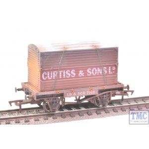 4F-037-109 Dapol OO Gauge Conflat & Container Curtiss with Deluxe Weathering by TMC