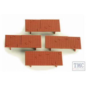 4A-000-011 Dapol OO Gauge Brick Loads for 10ft Wheelbase Wagons (4)