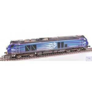 4D-022-016 Dapol OO Gauge Class 68 68034 DRS Weathered by TMC