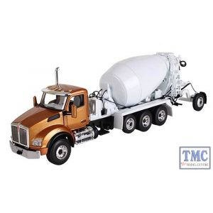 50-3316 First Gear 1:50 SCALE Kenworth T880 McNeilus Bridgemaster Mixer Aztec Gold Cab