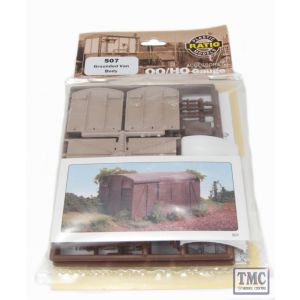 507 Ratio Grounded Van Body OO Gauge Plastic Kit