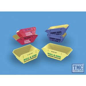 5088H Modelscene OO Gauge Skips (Large & Small) 'Haul & waste'