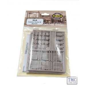 514 Ratio Pack of Assorted Pallets Sacks & Barrels OO Gauge Plastic Kit