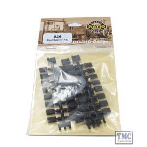 526 Ratio Coal sSacks (48 per pack) OO Gauge Plastic Kit