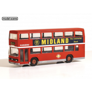 5501 Modelscene OO/HO Gauge Leyland Olympian Double Decker Bus London Buses Riverside