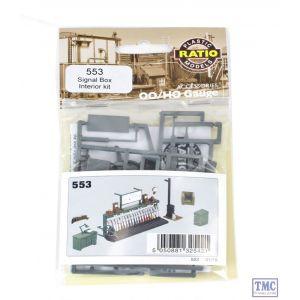 553 Ratio Signal Box Interior Kit (Unpainted) OO Gauge Plastic Kit