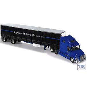 60-0240 First Gear 1:64 SCALE Volvo VN 670 'Thomas & Sons' with 48' Curtainside Trailer