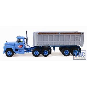 60-0244 First Gear 1:64 SCALE Mack R Model 'Cardi Corporation' with 22' End Dump Trailer