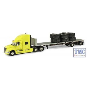 60-0245 First Gear 1:64 SCALE International ProStar+ Yellow with Silver 48' Trailer & Load