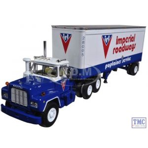 60-0265 First Gear 1:64 SCALE Mack R Model 'Imperial Roadways Ltd.' with 28' Pup Trailer