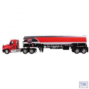 60-0279 First Gear 1:64 SCALE Freightliner Cascadia DayCab '76' with 42' Fuel Tank Trailer