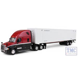 60-0305 First Gear 1:64 SCALE Freightliner Cascadia Red & Black Cab with White Container
