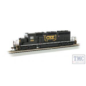 60917 Bachmann HO Scale CSX® #8905 - BLACK (HTM®) - SD40-2 - DCC