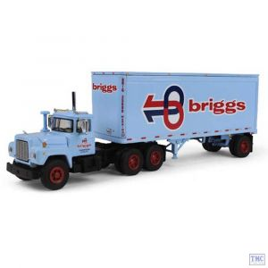 60-0284 1:64 SCALE Mack R Model with 28' Pup Trailer 'Briggs Transportation'