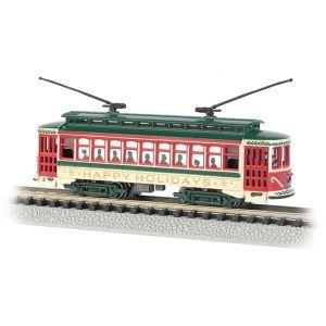 61085 Bachmann N Scale Brill Trolley Christmas