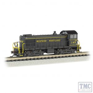 63151 N Gauge Bachmann S4 Diesel Western Maryland #145 (DCC On Board)