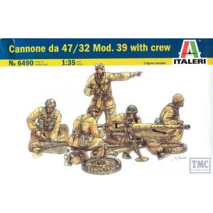 6490 Italeri 1/35 Cannone da 47/32 Mod. 39 with crew Model Kit
