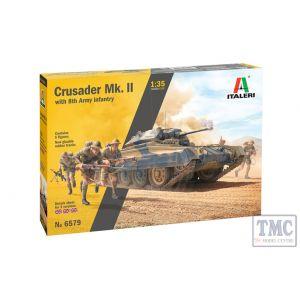 6579 Italeri 1:35 Scale Crusader Mk. II with 8th Army Inf
