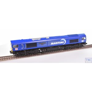 Bachmann OO Gauge Class 66 66142 Maritime Intermodal Three DB MARITIME Blue Re-Sprayed/Renamed/Renumbered