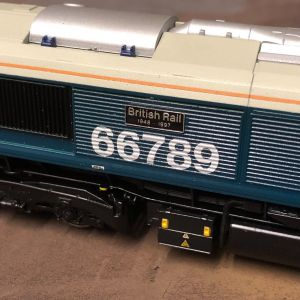 Etched Nameplates for Class 66 'British Rail 1948-1997' 66789 (1 Pair)
