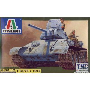 7008 Italeri 1:72 T-34/76 Russian Tank Model Kit (Pre owned)