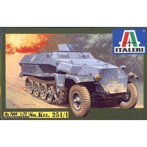 Italeri 1:72 Sd.Kfz. 251/1 Model Kit No 7009 (Pre owned)